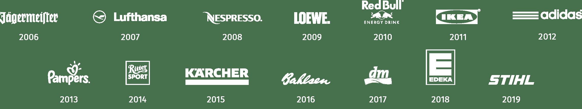 Logos der bisherigen Gewinner